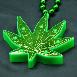 Hemp Cannabis Leaf Pendant 5 different flashing modes LED