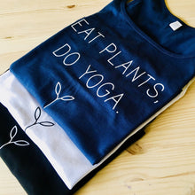 Womens Eat Plants Yoga Vest - White