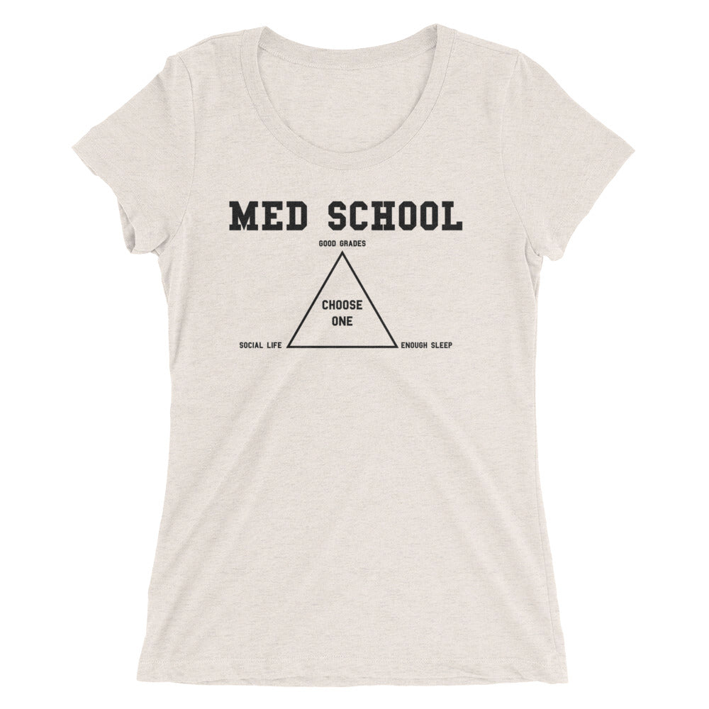 Ladies' short sleeve Med School t-shirt