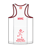 MMM Men's Escape Singlet - Red Stripe Option B