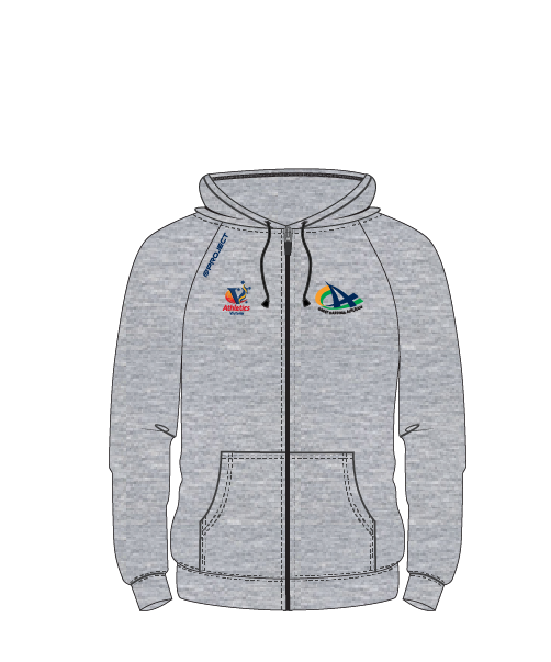 CCA Unisex Zipped Hoodie (grey fleece)