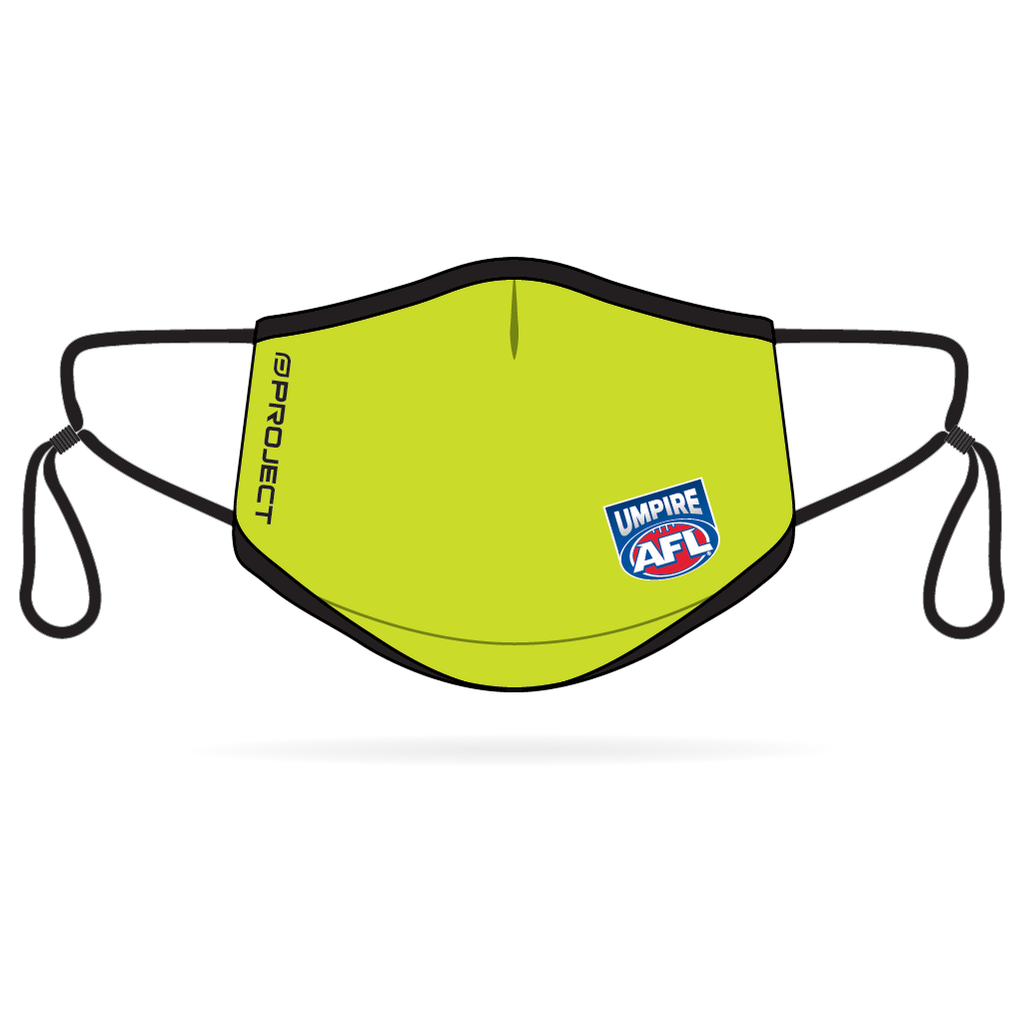 AFL Umpires Anti-Bacterial Reusable Mask 5 Pack - Green