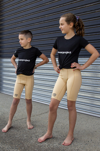 Youth V3 Compression Short - Beige