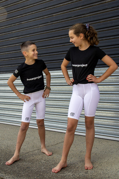 Youth V3 Compression Short - White