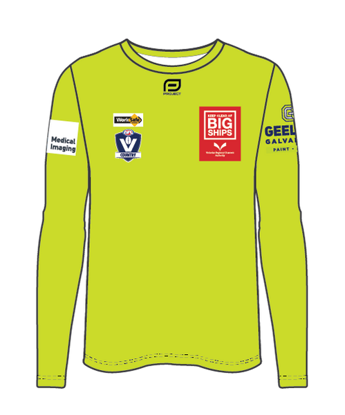 Geelong Men's L/Sleeve Umpire Tee