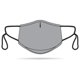 Grey Anti-Bacterial Reusable Mask 5 Pack