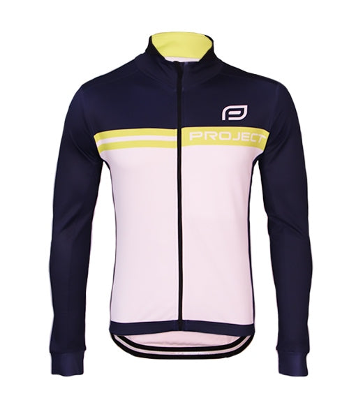 Men's Winter Cycle Jacket - NAVY/LIME