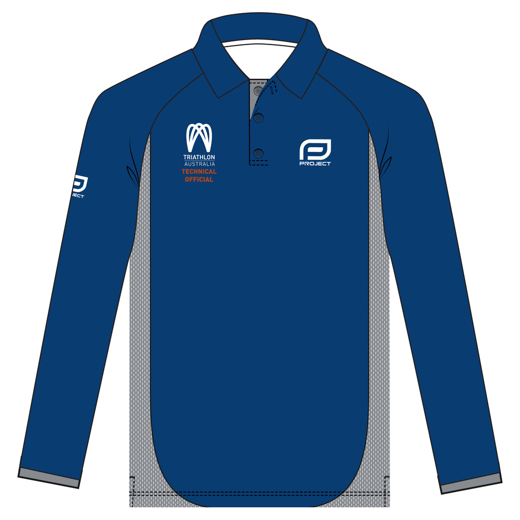 Tri Aus Tech Official Men's long sleeve Elite Polo