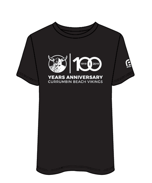 100 Year Currumbin SLSC Men's Casual Tee - Black