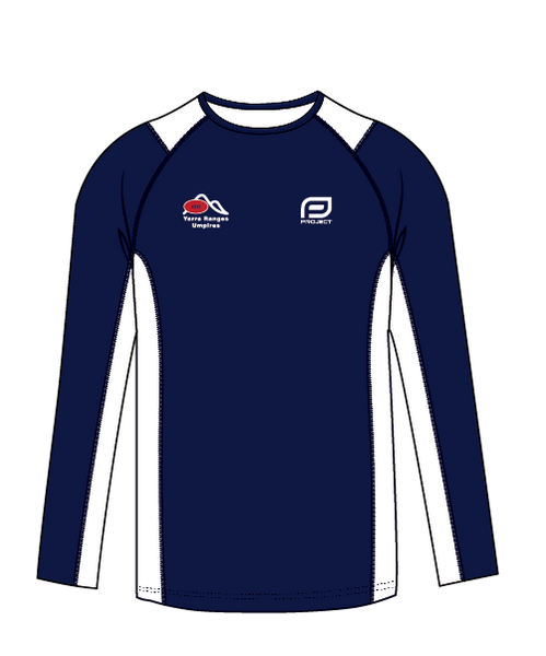 Yarra Ranges Men's L/S Active Umpire Tee- Off Field