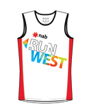 NAB RunWest - Men's Training Tank Red