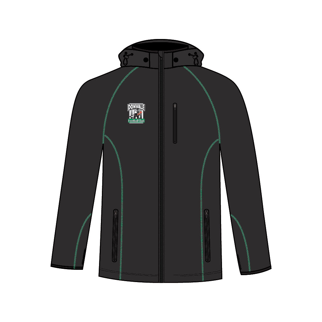 Donvale FC Men's Smooth Membrane Jacket With Hood