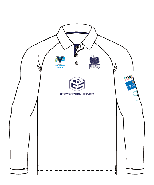 BDCC Youth Long Sleeve Club Playing Polo - White