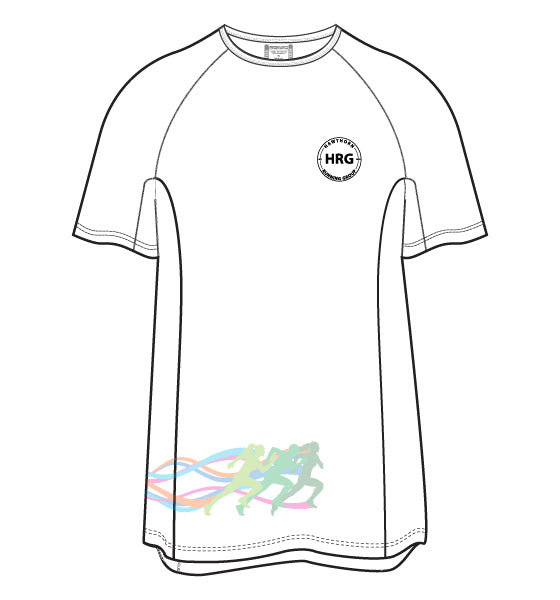 HRG Men's Active Run Tee - white