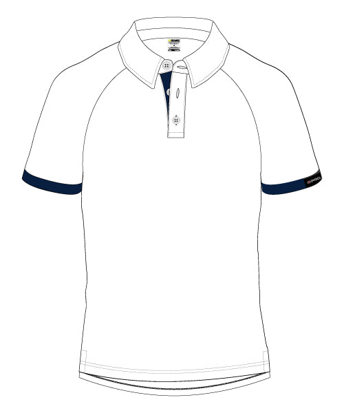 Men's Corporate Polo - WHITE/BLUE