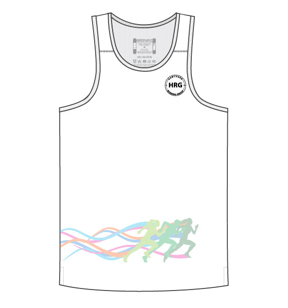 HRG Men's Escape Singlet - white