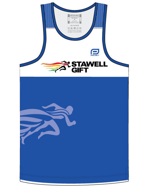 Men's Escape Singlet - Blue