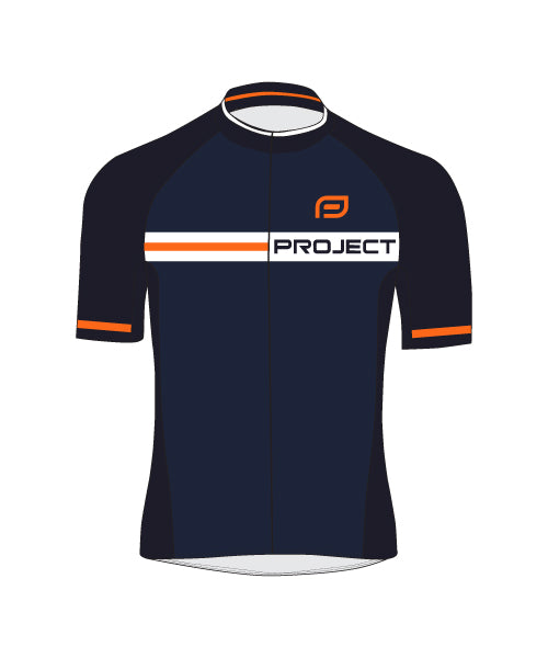Men's Elite Cycle Jersey - NAVY/ORANGE