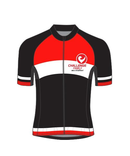 Cycle Jersey - Mens - Red Black White