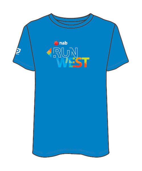 NAB RunWest Men's Sublimated Tee - Blue