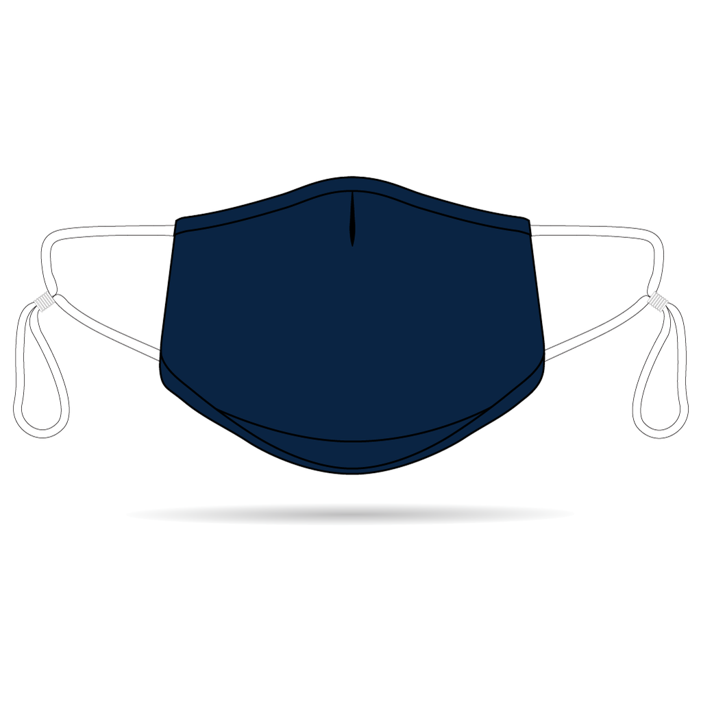 Navy Anti-Bacterial Reusable Mask 5 Pack