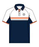 SW23 Golf Performance Polo - Navy/Orange