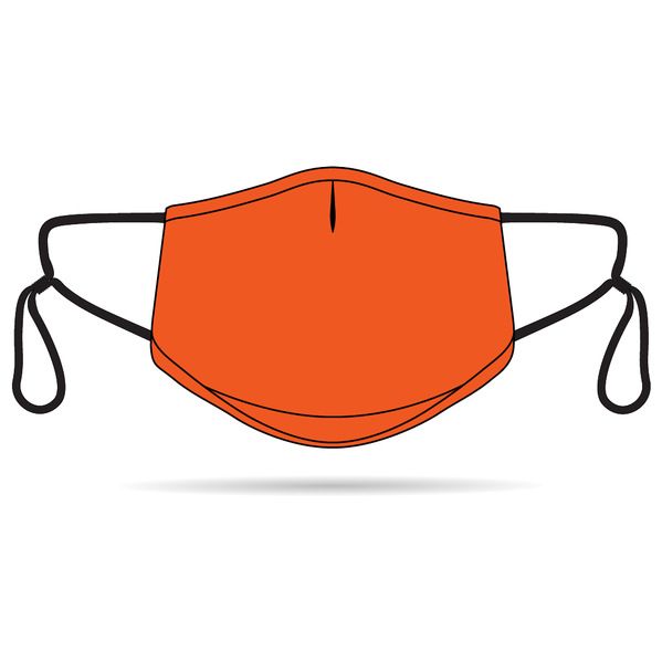 Orange Anti-Bacterial Reusable Mask 5 Pack