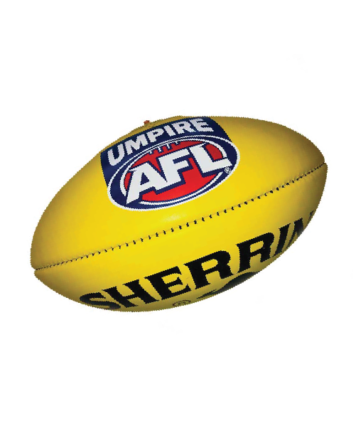 Umpire AFL Sherrin KB Football (Yellow)