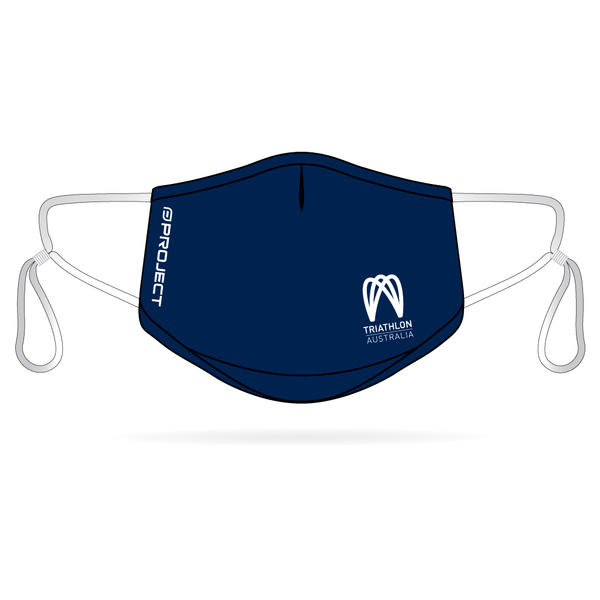 Triathlon Australia Anti-Bacterial Reusable Mask 5 Pack