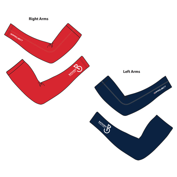 Bathurst Cycling Arm Warmers Red/Blue