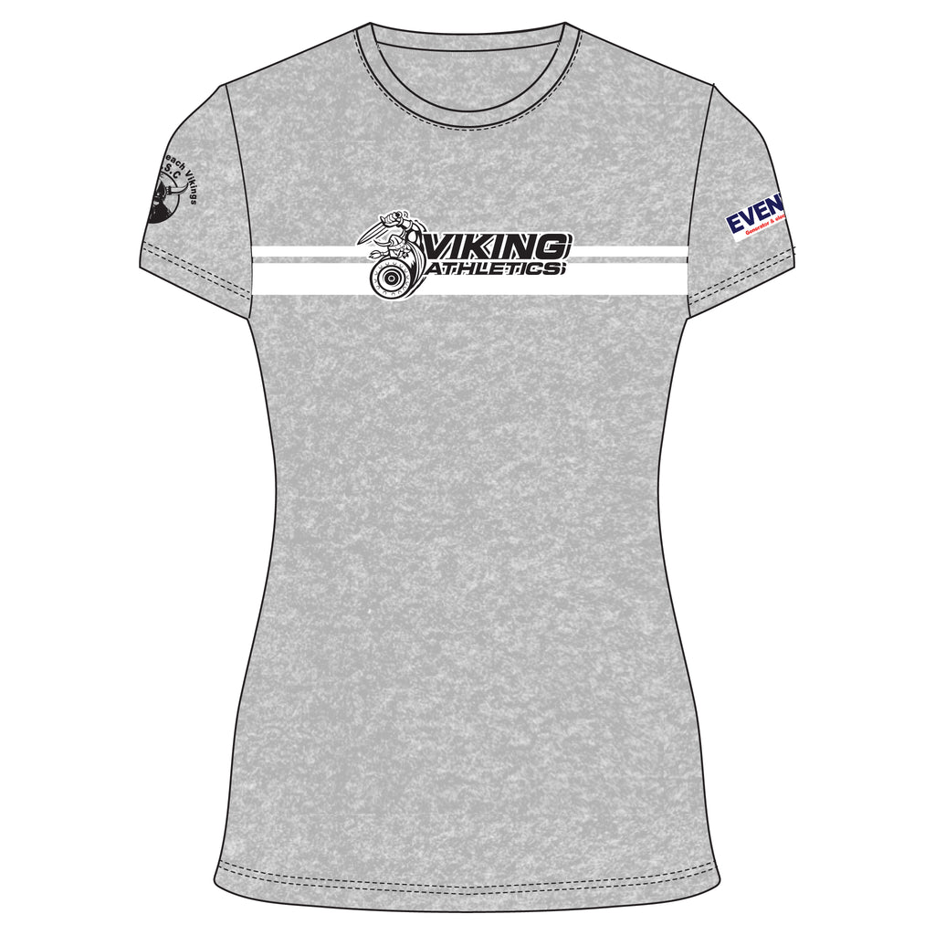 Vikings Athletics 2020 Women's Cotton Tee - Grey