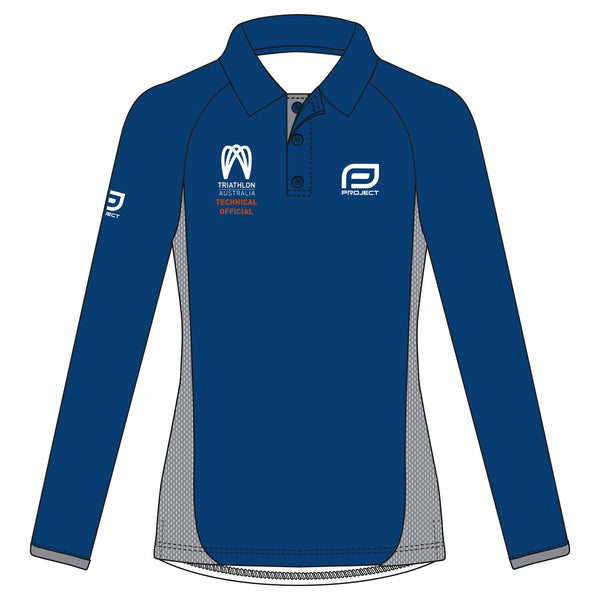 Tri Aus Tech Official Women's Long Sleeve Elite Polo