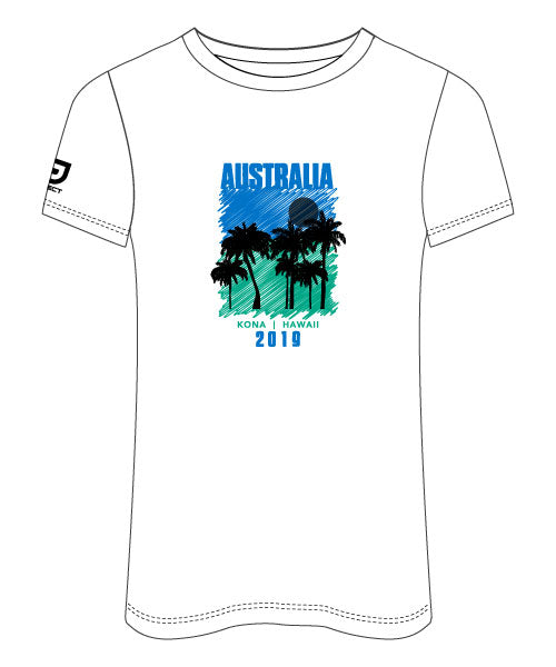 Kona 2019 Women's Sublimated Run Tee (White)