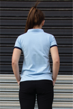 Women's Corporate Polo - SKY BLUE/NAVY