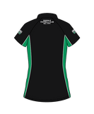 Donvale FC  Women's Polo - Black DESIGN 3