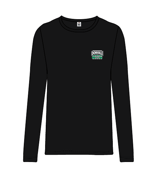 Donvale FC - Women's Long Sleeve Casual Tee - Black