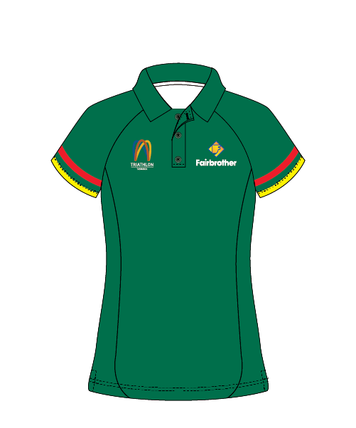 Triathlon Tasmania  Women's Polo (Green)