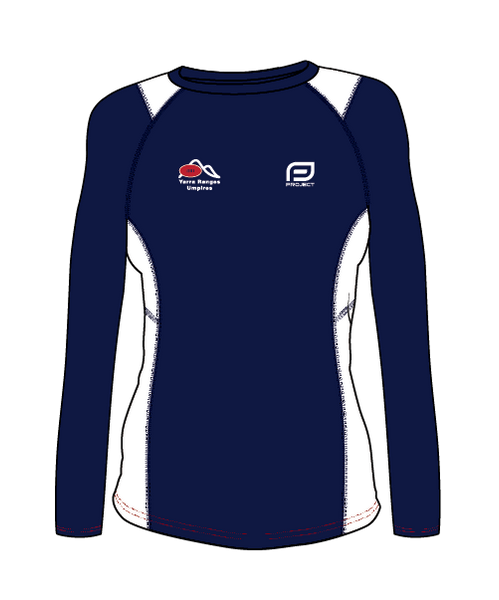 Yarra Ranges Women's L/S Active Umpire Tee - Off Field