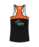 NAB RunWest - Women's Escape Singlet Orange