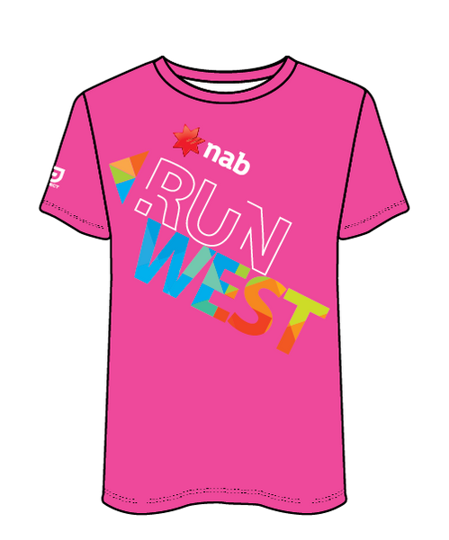 NAB RunWest - Women's Sublimated Tee - Hot Pink