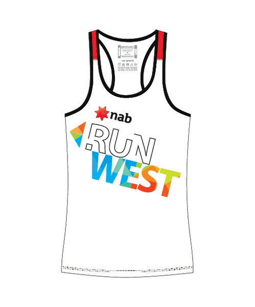 NAB RunWest  - Women's Escape Singlet Red