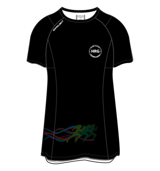 HRG Women's Active Run Tee - black