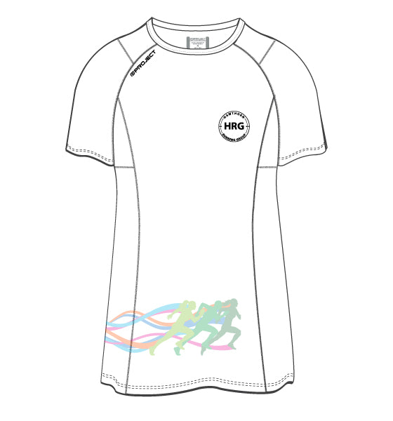 HRG Women's Active Run Tee - white