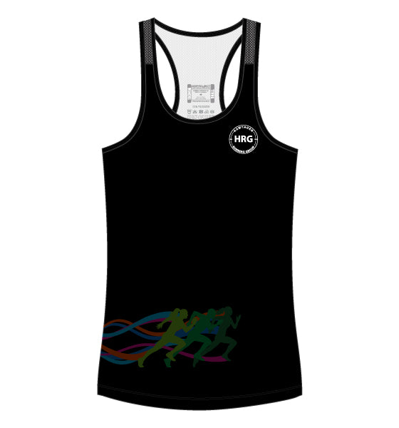 HRG Women's Escape Singlet - black
