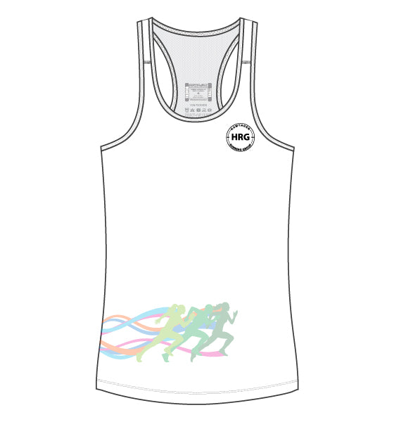 HRG Women's Escape Singlet - white