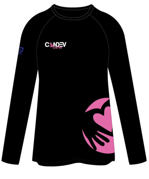 Condev Cares Women's Long Sleeve Tee - Black