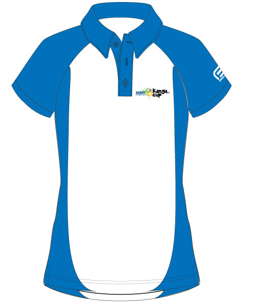 2017 Women's Kanga Cup Elite Polo - White & Blue