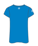NAB RunWest - Women's Sublimated V Neck Tee - Blue
