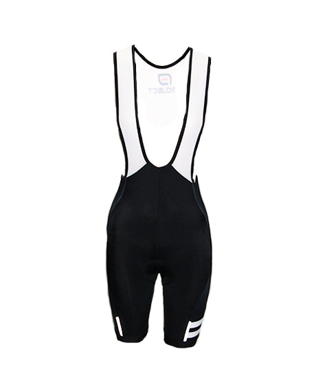 Womens Cycle Bib Short - BLACK/WHITE