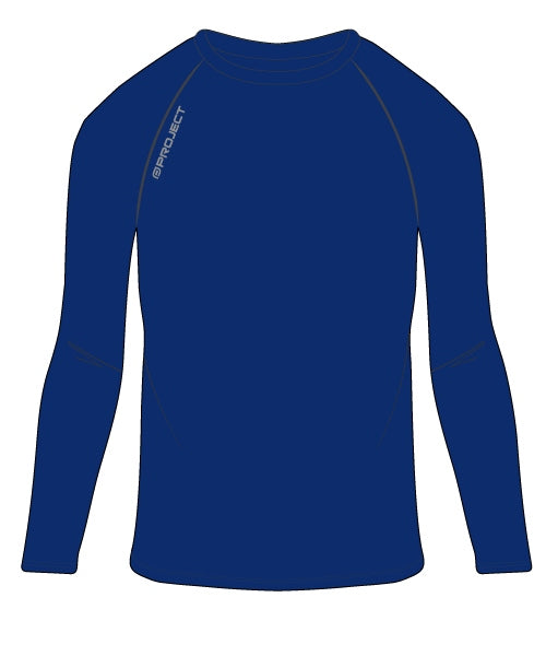Youth Long Sleeve Compression Top - Navy